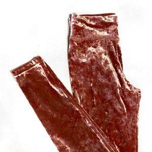 AE Aerie Crushed Velvet Leggings